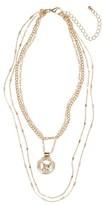 BP Women's Multistrand Pendant Necklace