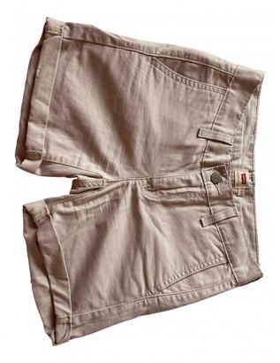 Levi's Beige Cotton Shorts