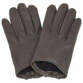 Givenchy Grey Leather Gloves