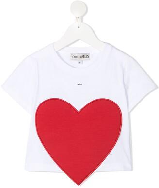 Simonetta Heart-Patch Cotton T-Shirt