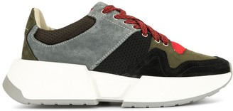 MM6 MAISON MARGIELA lace-up panelled sneakers