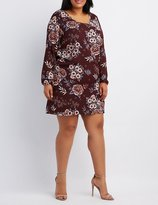Charlotte Russe Plus Size Floral Strappy Shift Dress
