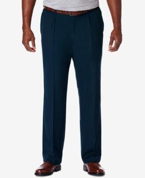 Haggar Men's Big & Tall Cool 18 Pro Classic-Fit Expandable Waist Pleated Stretch Dress Pants