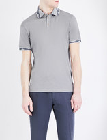 Etro Paisley-trimmed silk and cotton-blend polo shirt
