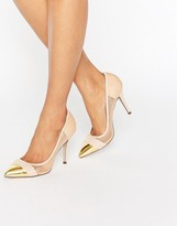Paper Dolls Orla Nude Sheer Court with Gold Toe Cap