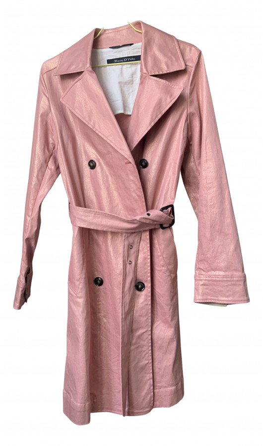 Marc O Polo Pink Plastic Trench Coats, Pink Plastic Trench Coat