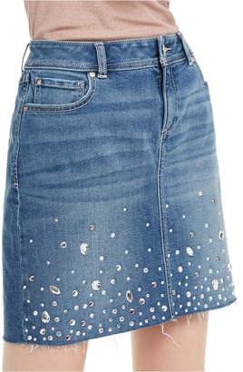 INC International Concepts Inc Embellished Denim Skirt