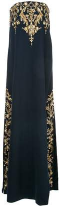 Oscar de la Renta embroidered strapless dress