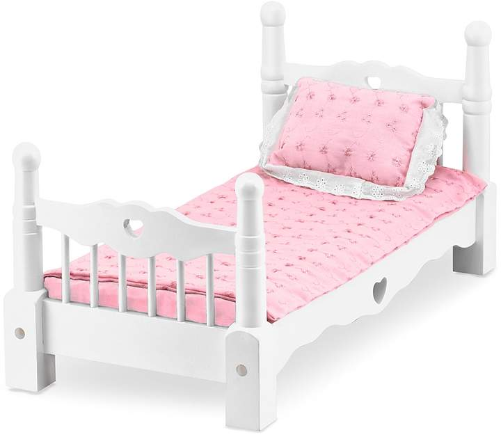 Melissa & Doug Wooden Doll Bed - Ages 3+