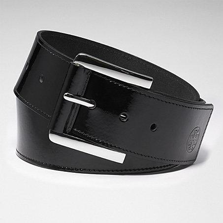 Tory Burch Patent Sidebar Belt
