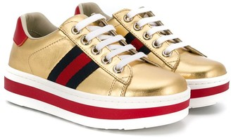 Gucci Kids lace-up platform sneakers