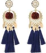 Rebecca Minkoff Tassel and Pom Drama Chandelier Earrings