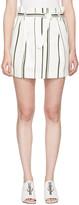 3.1 Phillip Lim Off-White Striped Paper Bag Miniskirt