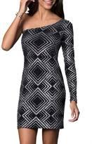 Kiss Keep It Simply Stylish Glitter Print Dress