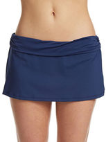 Chaps Banded Skirted Hipster Swim Bottoms