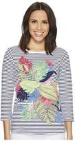 Tommy Bahama Sunset Shadow 3/4 Sleeve Top Women's Clothing