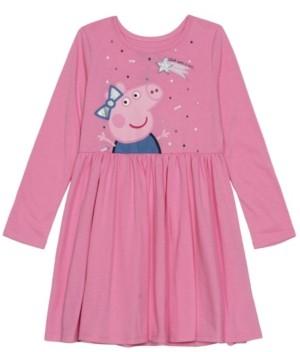 Disney Little Girls Peppa Holiday Long Sleeve Dress