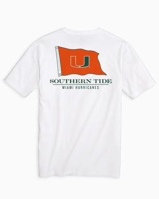 Southern Tide Miami Hurricanes Flag Short Sleeve T-Shirt