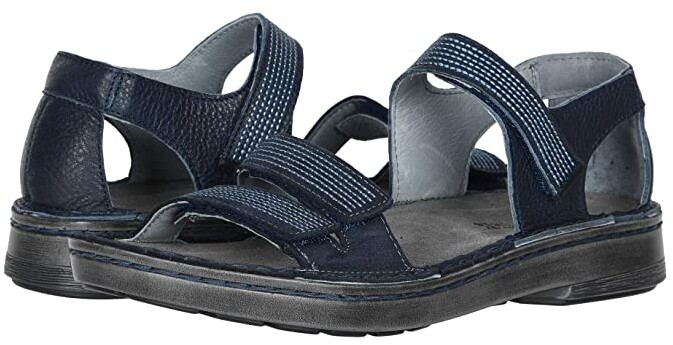 Naot Footwear Amarante (Ink Leather/Navy Velvet Nubuck/Jet Black Leather) Women's Sandals