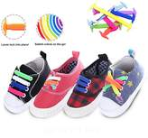 3 Pairs Lazy No Tie Silicone Shoelace, Rubber Elastic Slip Sneaker Shoe Laces Running Shoelaces Athletic Shoe laces 12pc/pair, Uelfbaby