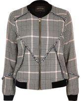 River Island Womens Black patterned bomber jacket
