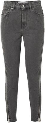 IRO Essey Zip-embellished Frayed High-rise Skinny Jeans