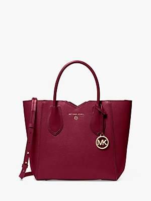 Michael Kors MICHAEL Mae Medium Leather Messenger Tote Bag