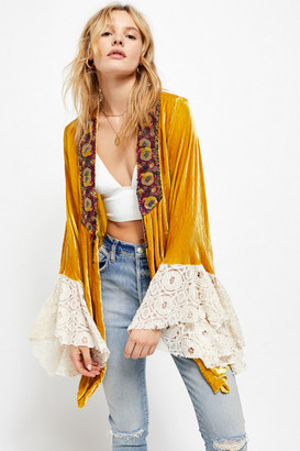Free People Wanderlust Velvet Short Duster