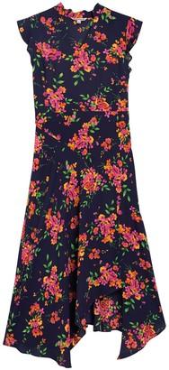 Nanette Lepore Flutter Sleeve Stripe Print Midi Dress