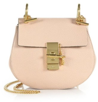 Chloé Mini Drew Leather Saddle Bag