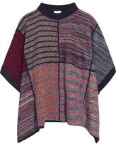 See by Chloe Jacquard-knit Poncho - Burgundy