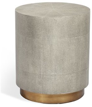 Interlude Kenzo Drum End Table