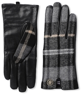 Tommy Hilfiger Winter Plaid Leather Gloves