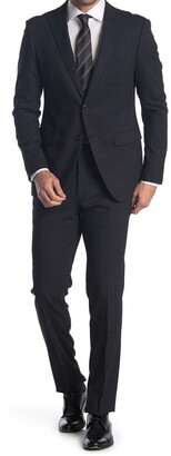 John Varvatos Collection Nested Black Wool Suit