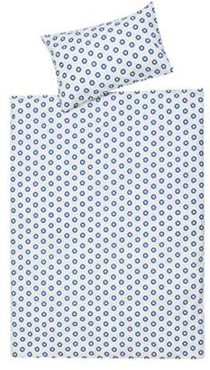 Schardt 13 609 1/761 2-Piece Children's Bed Linen Circle Star Design Blue