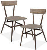 Café Set of 2 Dining Chairs, Quick Ship
