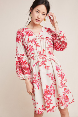 Vineet Bahl Embroidered Floral Tunic Dress