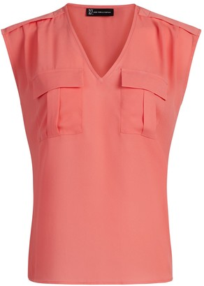 New York & Co. Sleeveless Pull-Over Utility Blouse