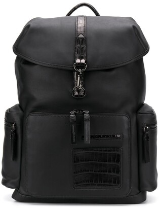 Ermenegildo Zegna Crocodile Effect Leather Backpack