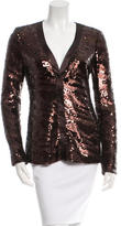 Rachel Zoe Sequined V-Neck Top w/ Tags