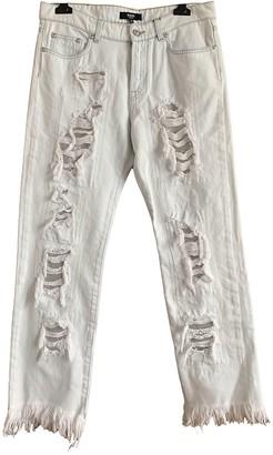Versus White Cotton Jeans for Women