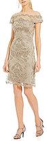 Tadashi Shoji Off-The-Shoulder Midi Dress