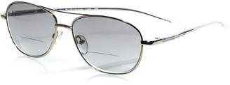 Eyebobs Turbulence Aviator Reader Sunglasses, Gold