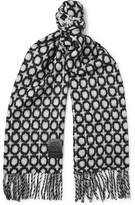 Loewe Wool-Blend Jacquard Scarf