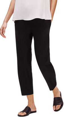 Eileen Fisher Plus Size Stretch Crepe Tapered Ankle Pants