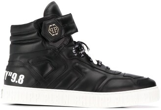 Philipp Plein Statement hi-top sneakers