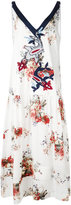 Antonio Marras floral print embroidered dress