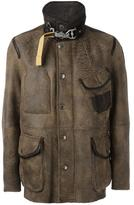 Parajumpers buttoned leather jacket