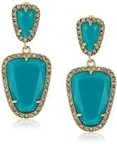 ABS by Allen Schwartz Going Coastal Turquoise Double Drop Pierced Earrings