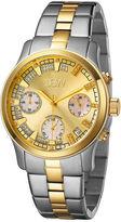 JBW Alessandra Womens 1/5 CT. T.W. Diamond Two-Tone Stainless Steel Bracelet Watch JB-6217-C